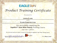 EagleSun Solar Water Heating Installation