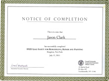 HUD Certification