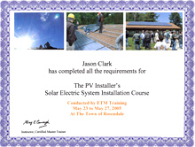 Solar Electric Certification
