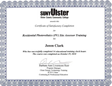Residential Photovoltaics Site Assessor Training Certification